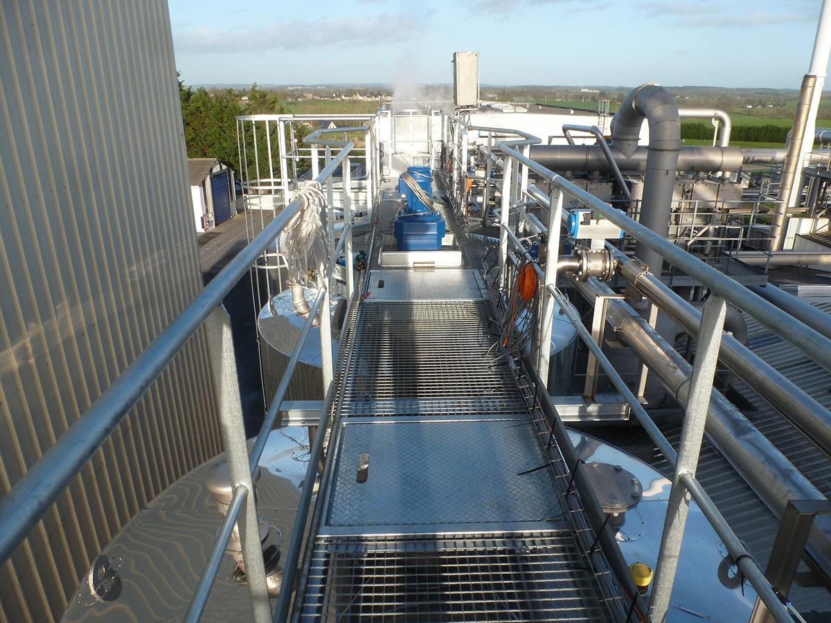 escalier aluminium industriel